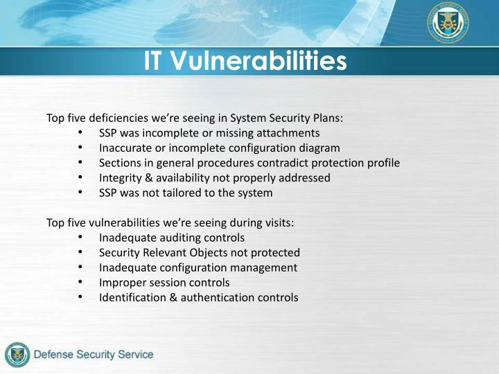 IT Vulnerabilities