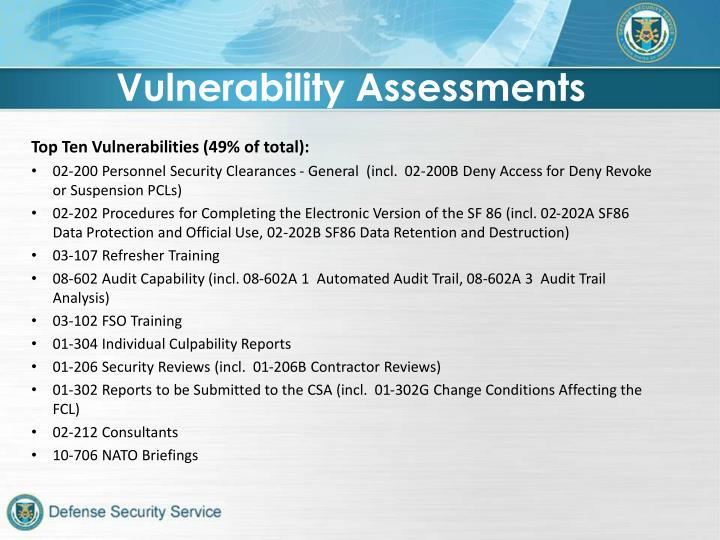 Vulnerability Assessments