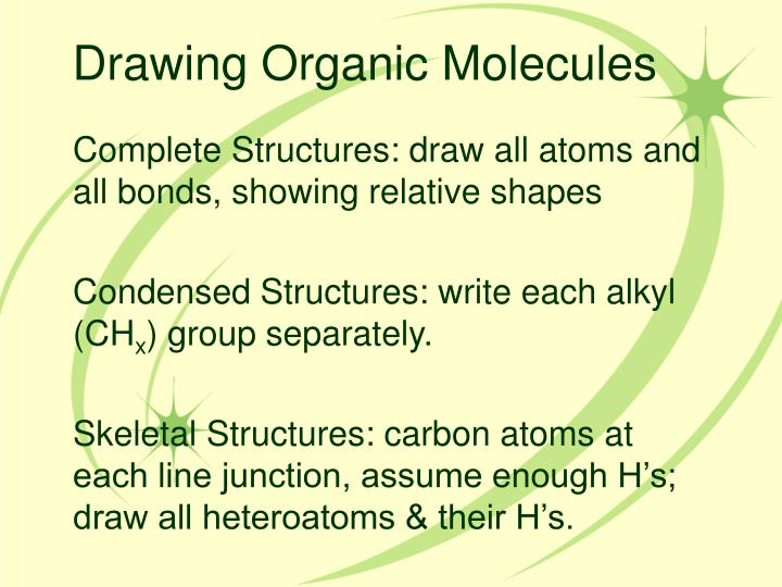 Drawing Organic Molecules