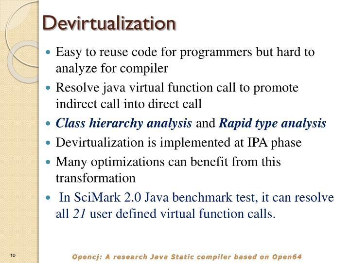 Devirtualization