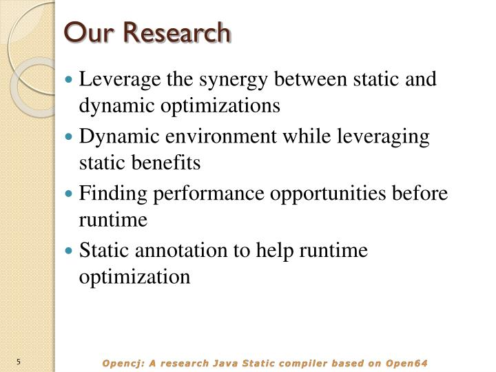 Our Research