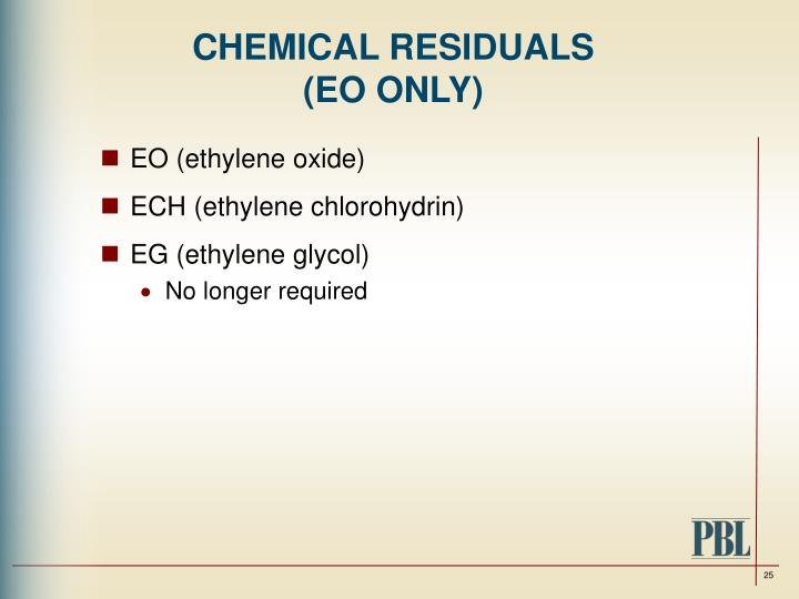 CHEMICAL RESIDUALS