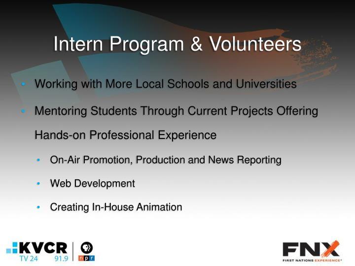 Intern Program & Volunteers