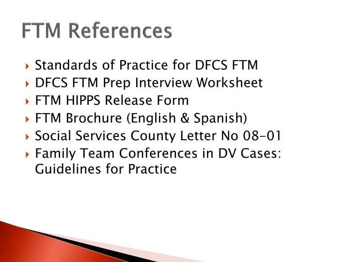 FTM References