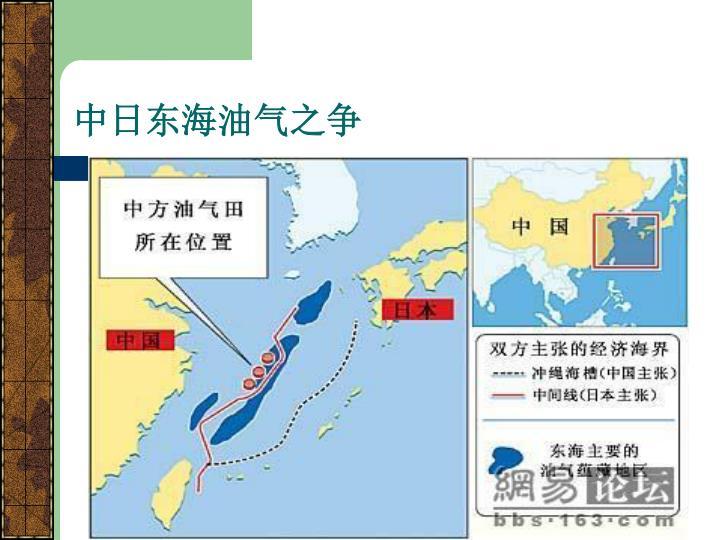 中日东海油气之争