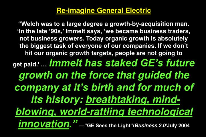 Re-imagine General Electric