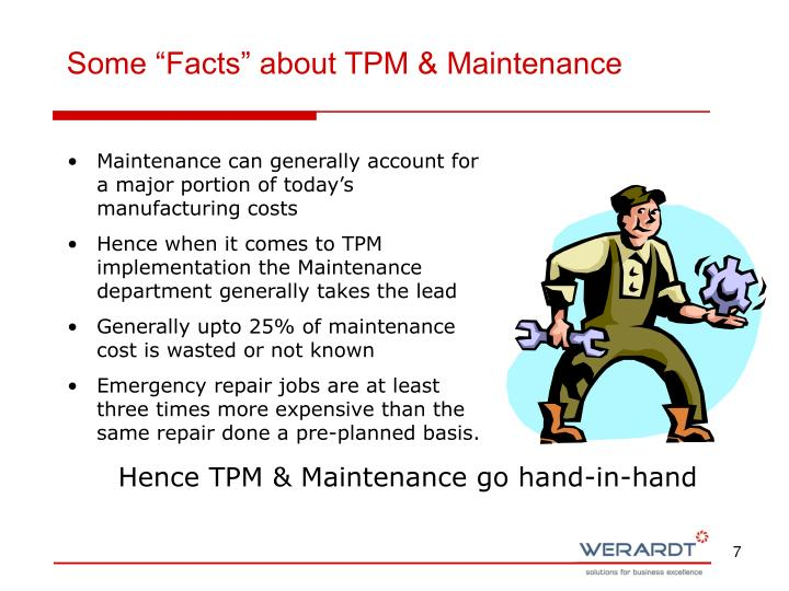 """Some """"Facts"""" about TPM & Maintenance"""