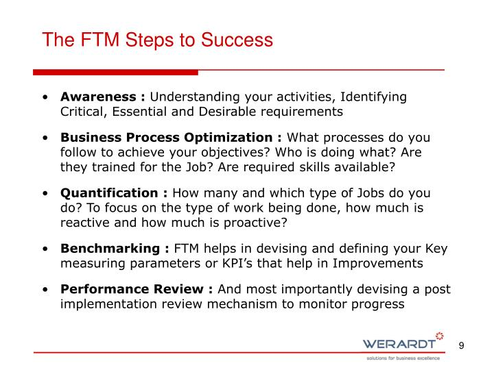 The FTM Steps to Success