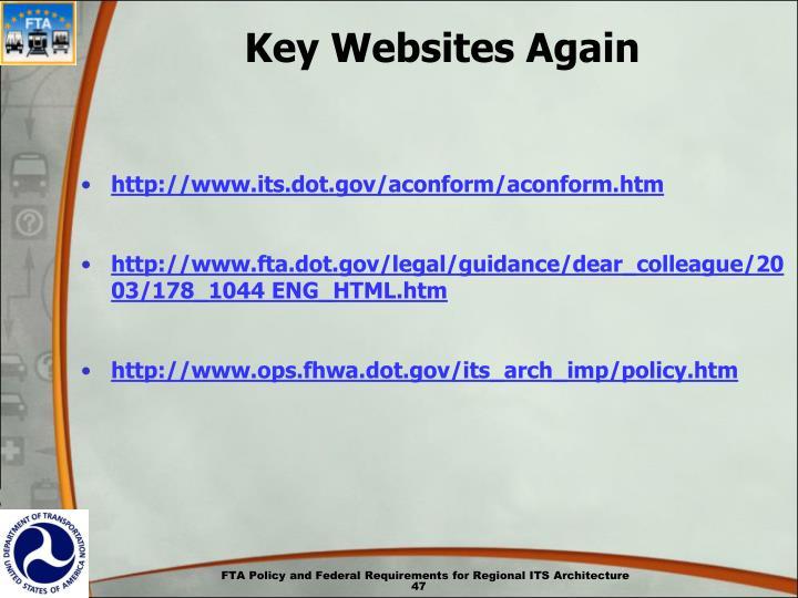 Key Websites Again