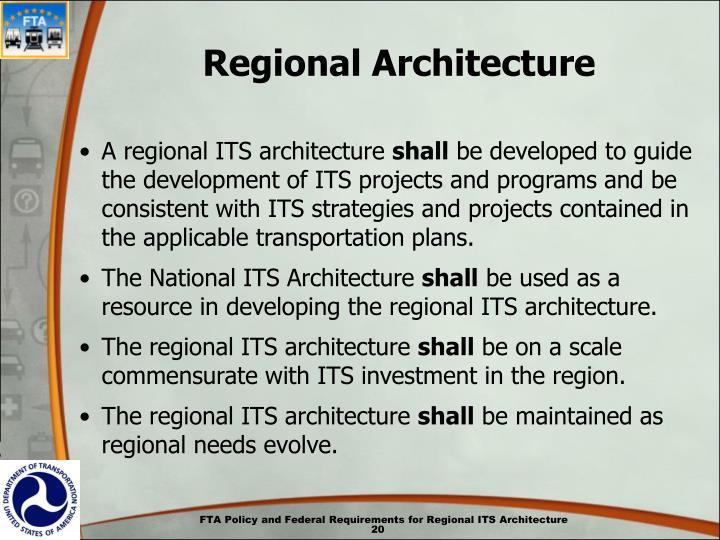 Regional Architecture