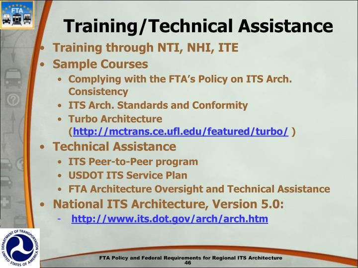 Training/Technical Assistance