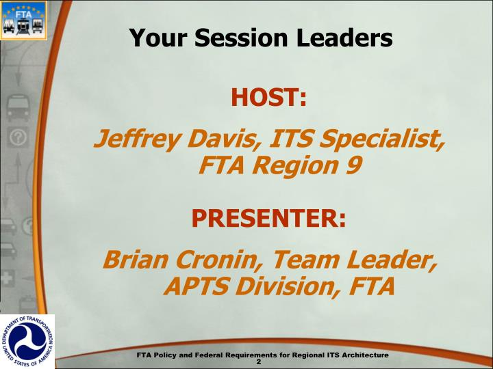 Your session leaders
