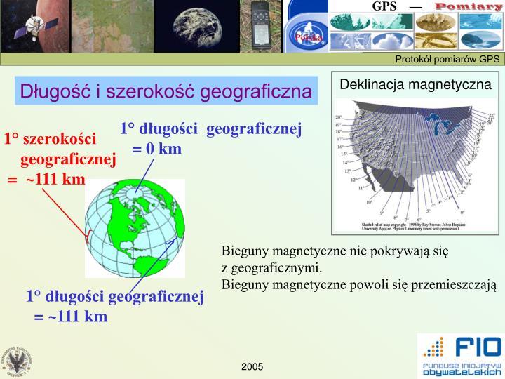Długość i szerokość geograficzna
