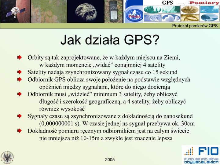 Jak działa GPS?