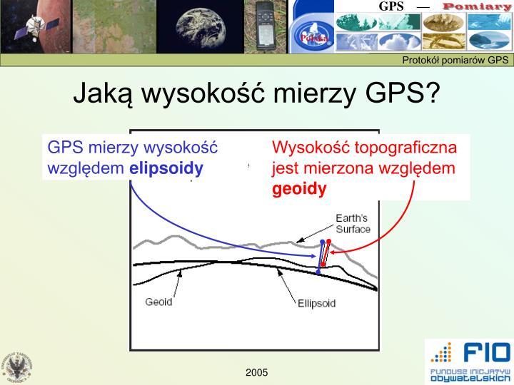 Jaką wysokość mierzy GPS?