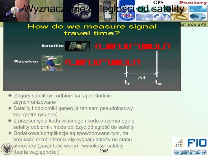Wyznaczanie odległości od satelity