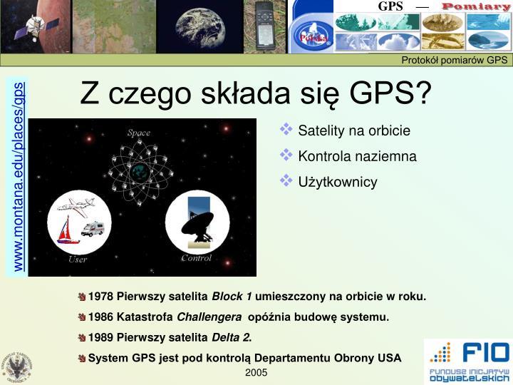Z czego składa się GPS?