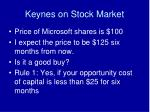 keynes on stock market
