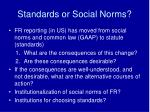 standards or social norms
