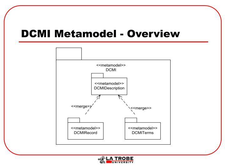 DCMI Metamodel - Overview