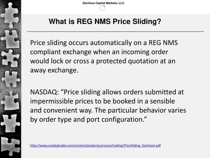 What is REG NMS Price Sliding?