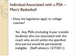 individual associated with a psa men s basketball9