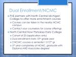 dual enrollment ncmc