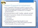 parent support involvement