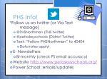phs info