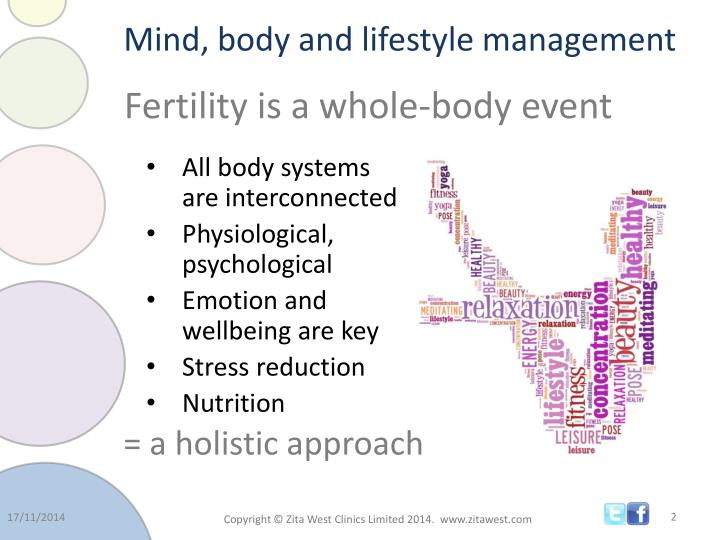 Mind body and lifestyle management