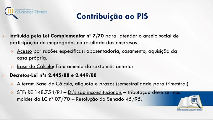 Contribuição ao PIS