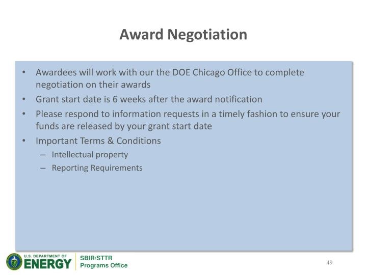 Award Negotiation