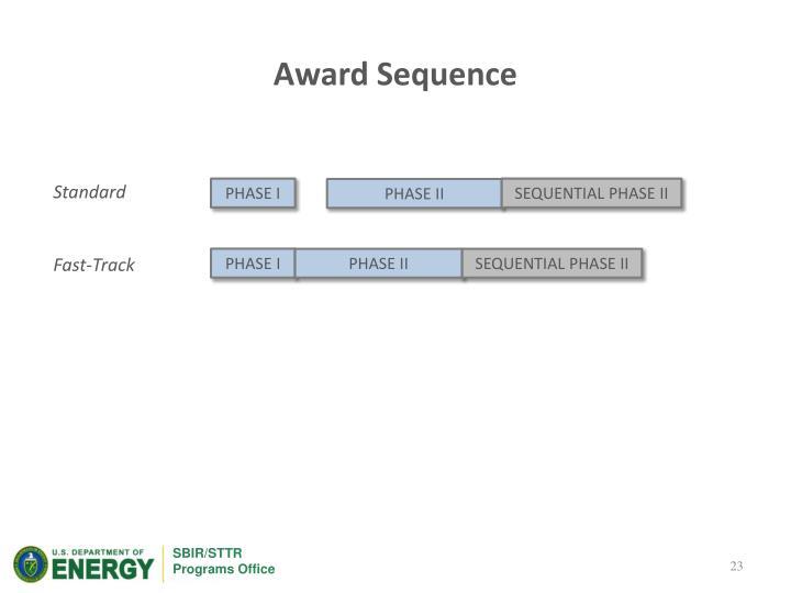 Award Sequence