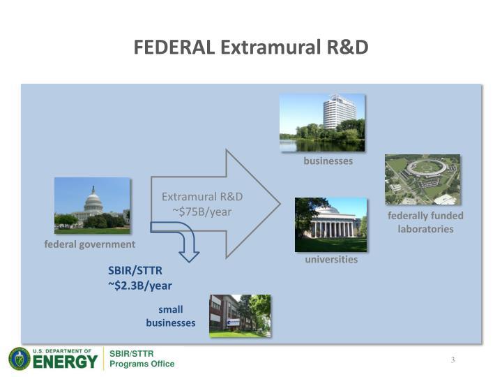 Federal extramural r d