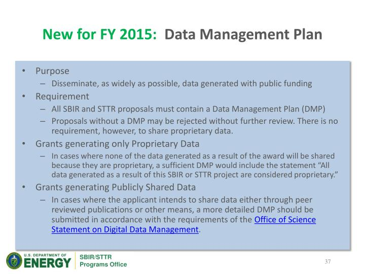 New for FY 2015:
