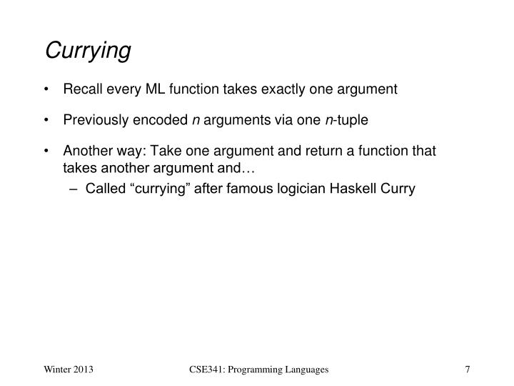 Currying