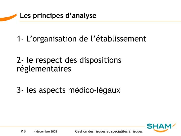 Les principes d'analyse