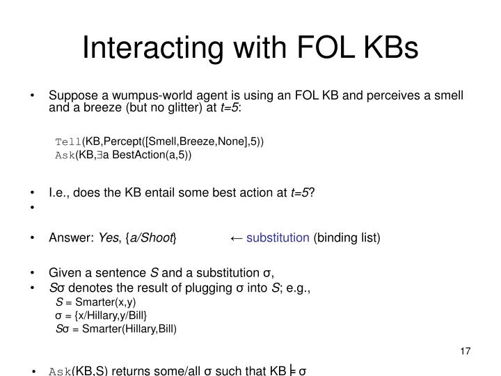 Interacting with FOL KBs