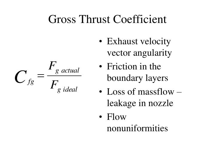 Gross Thrust Coefficient