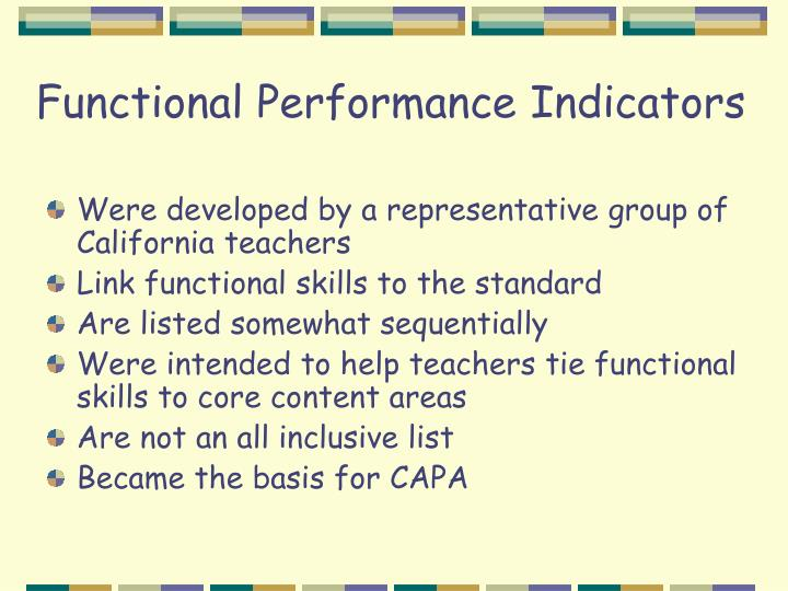 Functional Performance Indicators