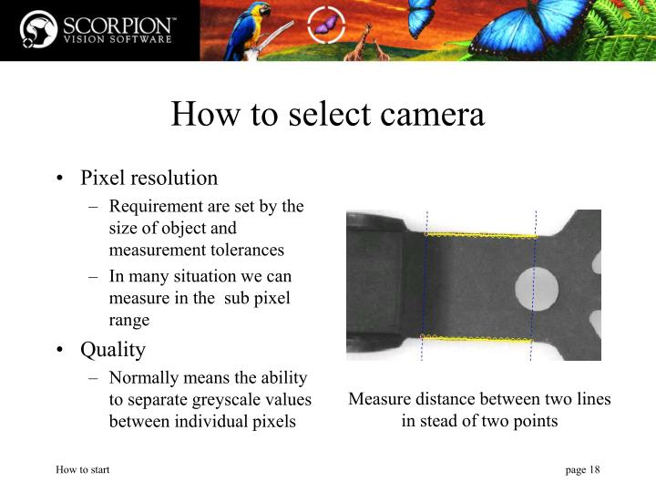 How to select camera