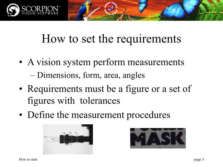 How to set the requirements