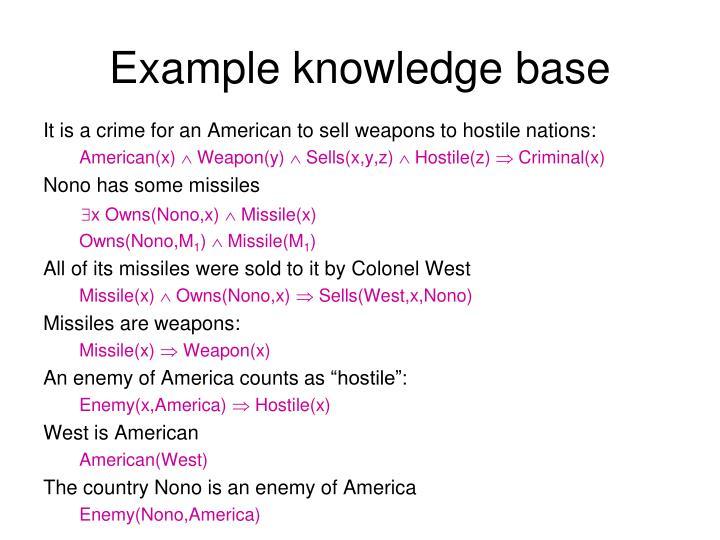 Example knowledge