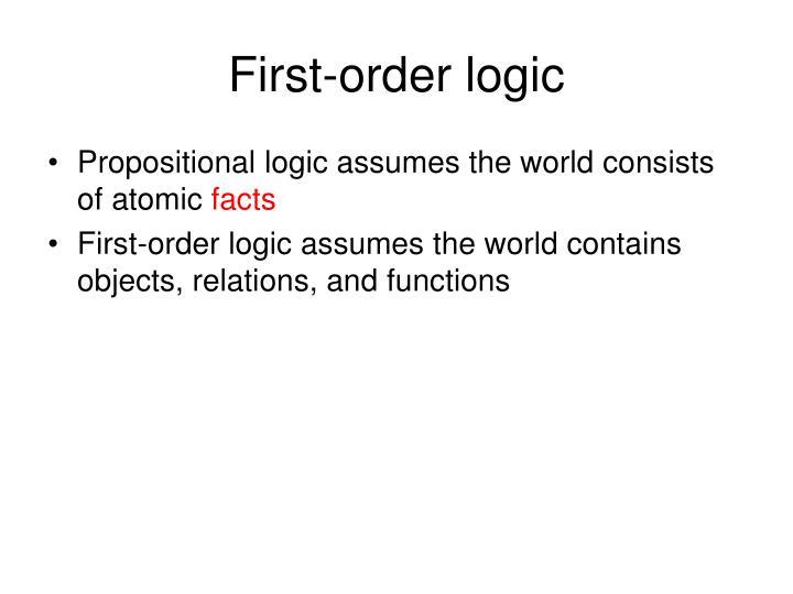 First order logic1