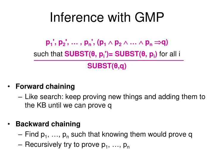 Inference with GMP