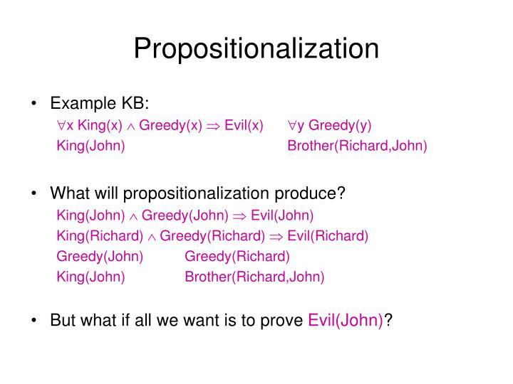 Propositionalization