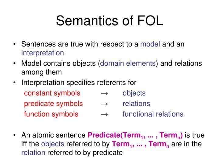 Semantics of FOL