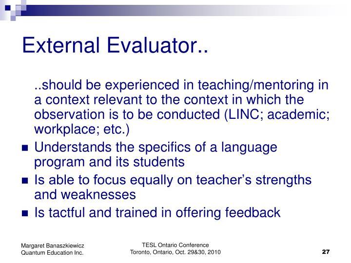 External Evaluator..