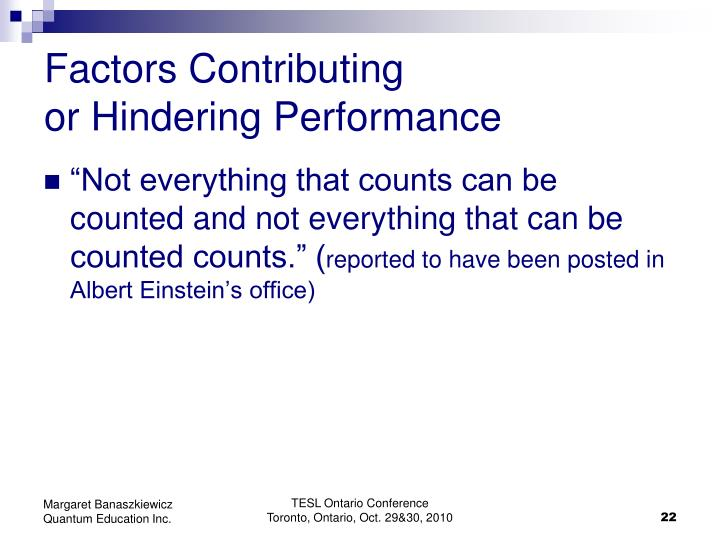 Factors Contributing
