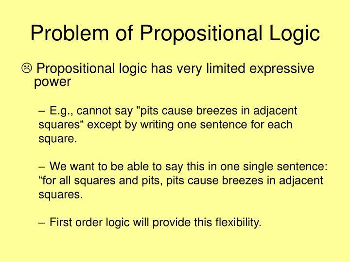 Problem of propositional logic